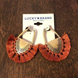 NWT Lucky brand fringe boho earrings